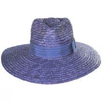 Joanna Light Blue Wheat Straw Fedora Hat alternate view 2
