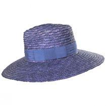 Joanna Light Blue Wheat Straw Fedora Hat alternate view 3