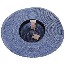 Joanna Light Blue Wheat Straw Fedora Hat alternate view 4