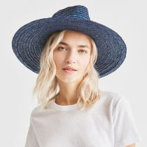 Joanna Light Blue Wheat Straw Fedora Hat alternate view 11