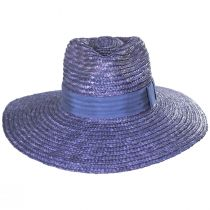 Joanna Light Blue Wheat Straw Fedora Hat alternate view 14