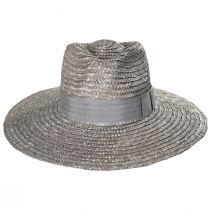 Joanna Silver Wheat Straw Fedora Hat alternate view 2