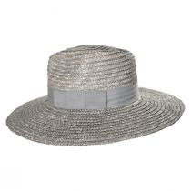 Joanna Silver Wheat Straw Fedora Hat alternate view 3