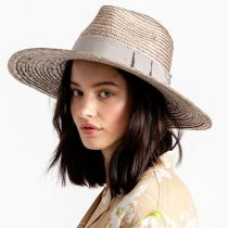 Joanna Silver Wheat Straw Fedora Hat alternate view 5