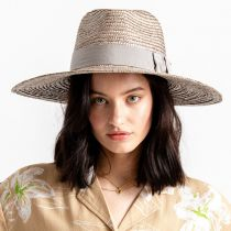 Joanna Silver Wheat Straw Fedora Hat alternate view 6