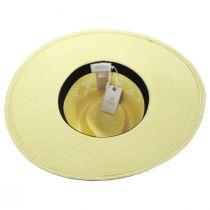 Joanna Toyo Straw Vented Crown Fedora Hat alternate view 4