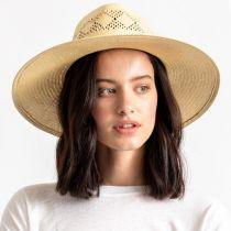 Joanna Toyo Straw Vented Crown Fedora Hat alternate view 5