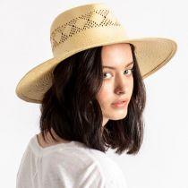 Joanna Toyo Straw Vented Crown Fedora Hat alternate view 6