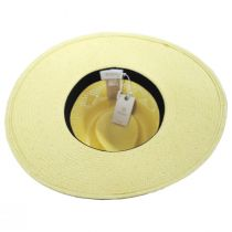 Joanna Toyo Straw Vented Crown Fedora Hat alternate view 10