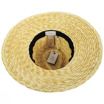 Joanna Natural/Red Wheat Straw Fedora Hat alternate view 4