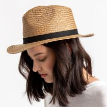 Lera III Cooper Palm Straw Fedora Hat alternate view 5