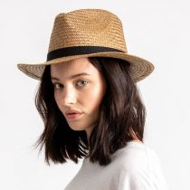 Lera III Cooper Palm Straw Fedora Hat alternate view 6