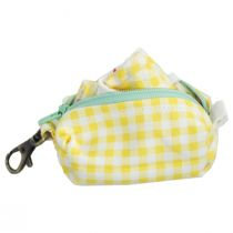 Yellow Gingham Filter Pocket Cotton Face Cover + Pouch alternate view 4
