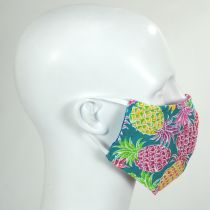 Multi Pineapple Cotton Face Cover + Pouch alternate view 2