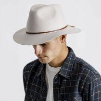 Wesley Silver Wool Felt Fedora Hat alternate view 6