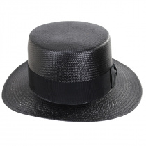 Keeneland Shantung Tonal Straw Skimmer Hat alternate view 6