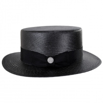 Keeneland Shantung Tonal Straw Skimmer Hat alternate view 7