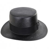 Keeneland Shantung Tonal Straw Skimmer Hat alternate view 14