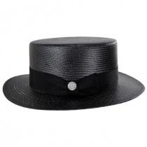 Keeneland Shantung Tonal Straw Skimmer Hat alternate view 15
