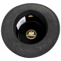 Keeneland Shantung Tonal Straw Skimmer Hat alternate view 16