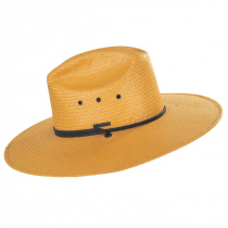 Harcourt Shantung Straw Cattleman Western Hat alternate view 3