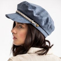 Ashland Light Blue Corduroy Fiddler Cap alternate view 12