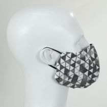 Grayscale Shapes Cotton Face Cover alternate view 3