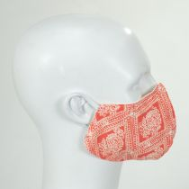 Red and White Floral Cotton Face Cover alternate view 3