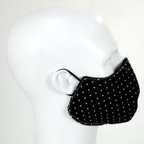 Black & White Polka Dot Cotton Face Cover alternate view 3