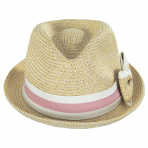 Joanne Toyo Straw Trilby Fedora Hat alternate view 10