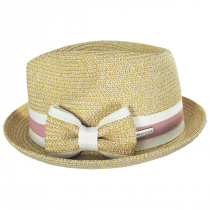 Joanne Toyo Straw Trilby Fedora Hat alternate view 11