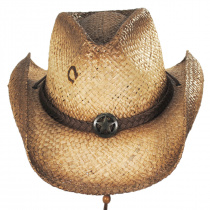 Lone Ranger Raffia Straw Western Hat alternate view 2