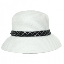Diamante Toyo Straw Cloche Hat alternate view 10