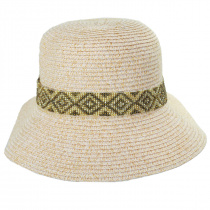 Diamante Toyo Straw Cloche Hat alternate view 6