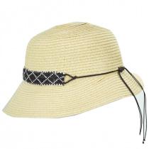 Diamante Toyo Straw Cloche Hat alternate view 3