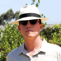 Diego Montecristi Fino Grade 20 Panama Straw Fedora Hat alternate view 7