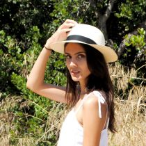 Diego Montecristi Fino Grade 20 Panama Straw Fedora Hat alternate view 20