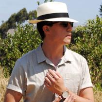 Diego Montecristi Fino Grade 20 Panama Straw Fedora Hat alternate view 10