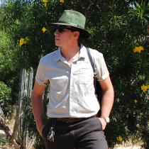 Nubuck Leather Safari Fedora Hat alternate view 17