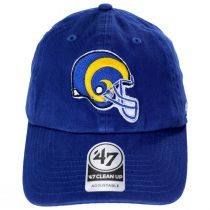 Los Angeles Rams NFL Clean Up Strapback Baseball Hat alternate view 2