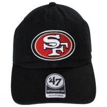 San Francisco 49ers NFL Clean Up Strapback Baseball Cap Dad Hat alternate view 2