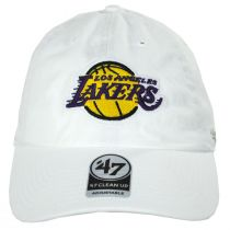Los Angeles Lakers NBA Clean Up Strapback Baseball Cap Dad Hat alternate view 4