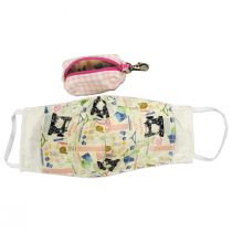 Pink Gingham Filter Pocket Cotton Face Cover + Pouch alternate view 2