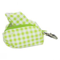 Lime Gingham Filter Pocket Cotton Face Cover + Pouch alternate view 4
