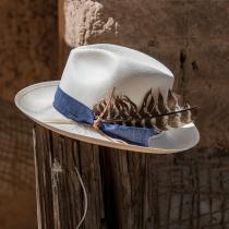 Fourteen Points Shantung Straw Fedora Hat alternate view 14
