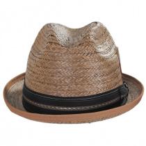 Coconut Straw Stingy Fedora Hat alternate view 2