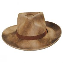 Arizona Distressed Wool Felt Fedora Hat alternate view 2