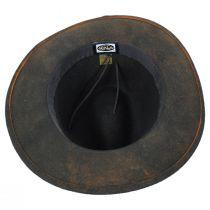Woodstock Distressed Wool Felt Safari Fedora Hat alternate view 4