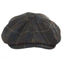 Brood Windowpane Plaid Baggy Newsboy Cap alternate view 2