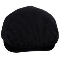 Hooligan Black Cotton Corduroy Ivy Cap alternate view 2